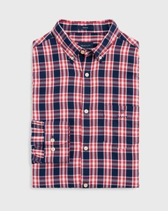Gant Windblown Oxford Check Cardinal Red