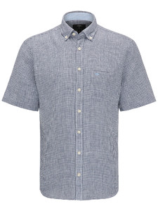 Fynch-Hatton Linen Vichy Check Navy