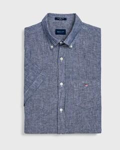Gant Linen Short Sleeve Persian Blue