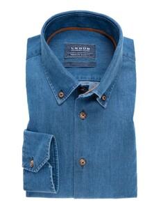 Ledûb Premium Quality Denim Shirt Donker Blauw