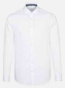 Seidensticker Twill Uni Light Spread Kent White