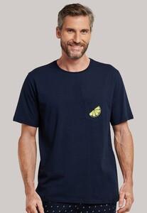 Schiesser Mix & Relax T-Shirt Dark Evening Blue