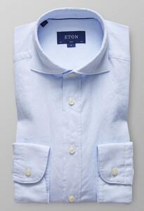 Eton Slim Royal Oxford Extreme Cutaway Licht Blauw