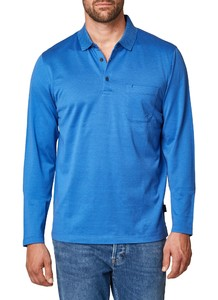 Maerz Cotton Long Sleeve Polo Cool Vista