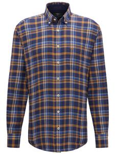 Fynch-Hatton Big Flannel Check Mosterd