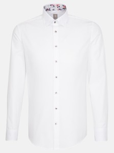 Jacques Britt Uni Verborgen Button Down Wit