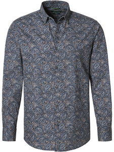 Pierre Cardin Denim Academy Paisley Fantasy Blue-Brown