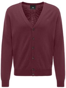 Fynch-Hatton Cardigan Button Wool Zinfandel