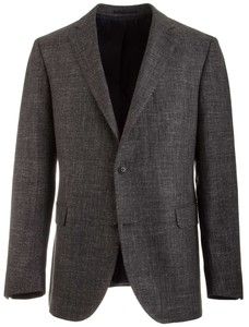 EDUARD DRESSLER Sean Shaped Fit Linnen Look Blazer Midden Grijs
