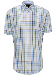 Fynch-Hatton Check Story Button Down Cypress-Blue