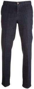 MENS Madison Modern-Fit Xtend Flat-Front Jeans Dark Denim Blue