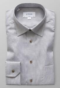 Eton Melange Oxford Shirt Off White-Bruin