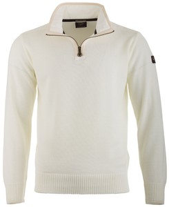 Paul & Shark Bretagne Merino Extrafine Zipper Off White