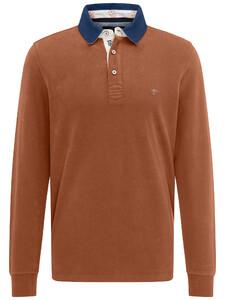 Fynch-Hatton Rugby Plain Shirt Burnt Sienna