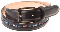 Paul & Shark Yachting Flag Belt Navy