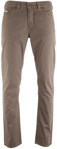 Gardeur Bevio Contrast Stitch 5-Pocket Mid Brown