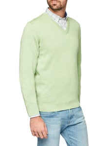 Maerz V-Neck Merino Superwash Apple Green