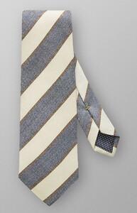 Eton Diagonal Silk Tie Licht Blauw