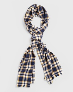 Gant Checked Scarf Ivy Gold