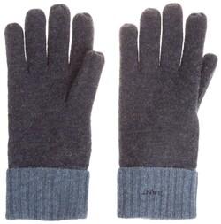 Gant Lambswool Fleece Contrast Gloves Dark Navy Melange