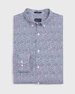 Gant Rose Dot Shirt College Blue