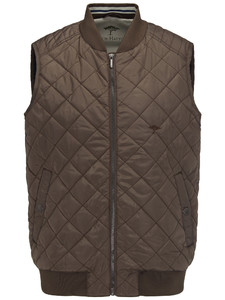 Fynch-Hatton Light Vest Diamond Stitch Earth