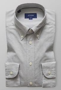 Eton Slim Uni Royal Oxford Wit Melange