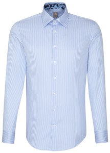 Jacques Britt Business Striped Contrast Blauw