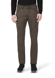 Gardeur Bill-3 Two Tone Cotton Dark Brown Melange