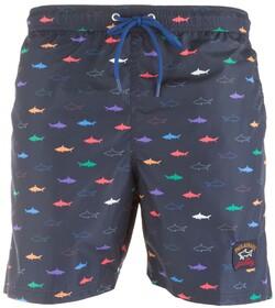 Paul & Shark Multicolor Shark Pattern Shorts Multicolor