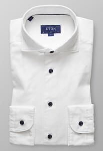 Eton Slim Textured Twill Wit