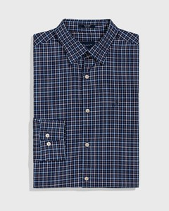 Gant Tech Prep Oxford Check Blauw