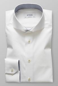 Eton Super Slim Uni Contrast Wit