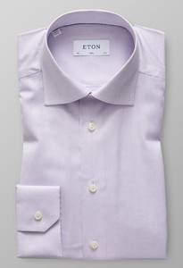 Eton Dobby Structure Uni Cutaway Light Purple Melange