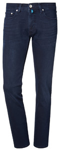Pierre Cardin Lyon Jeans Tapered Futureflex Black on Blue