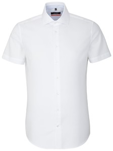 Seidensticker Short Sleeve Uni Structure White