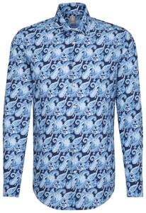 Jacques Britt Premium Fantasy Paisley Donker Blauw