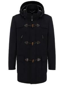 Fynch-Hatton Duffle Coat Doubleface Wool Mix Navy