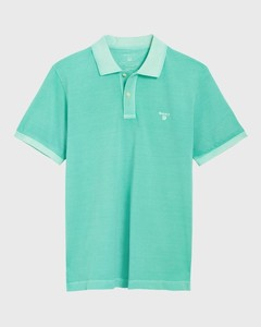 Gant Sunbleached Piqué Rugger Pool Green