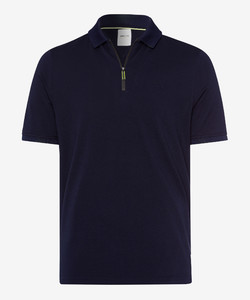 Brax Percy Zipper Polo Ocean