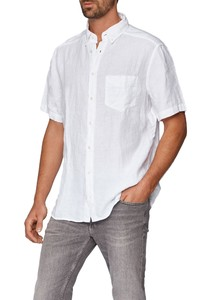Maerz Uni Linnen Overhemd Pure White