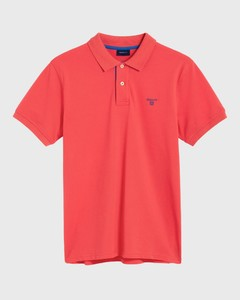 Gant Contrast Collar Piqué Watermeloen Rood