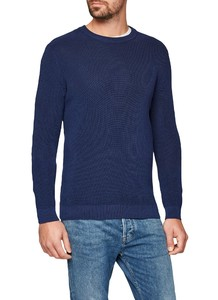 Maerz Cotton Uni Pullover Deep Inkblue
