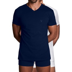 Gant Basic 2Pack V-Neck T-Shirt Navy-White