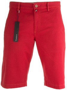 Gardeur Jasper Flat-Front Stretch Cotton Bermuda Red