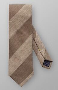 Eton Diagonal Block Tie Off White-Brown
