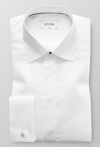 Eton Dobby Evening Shirt Wit