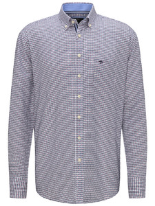 Fynch-Hatton Oxford Check Fine Contrast Navy