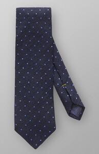 Eton Cotton Wool Silk Tie Navy