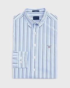 Gant The Broadcloth 3 Color Stripe College Blue